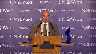 Yavuz Baydar - Receiving Morris B. Abram Human Rights Award