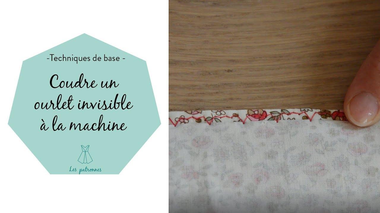 coudre un ourlet invisible la machine coudre youtube. Black Bedroom Furniture Sets. Home Design Ideas