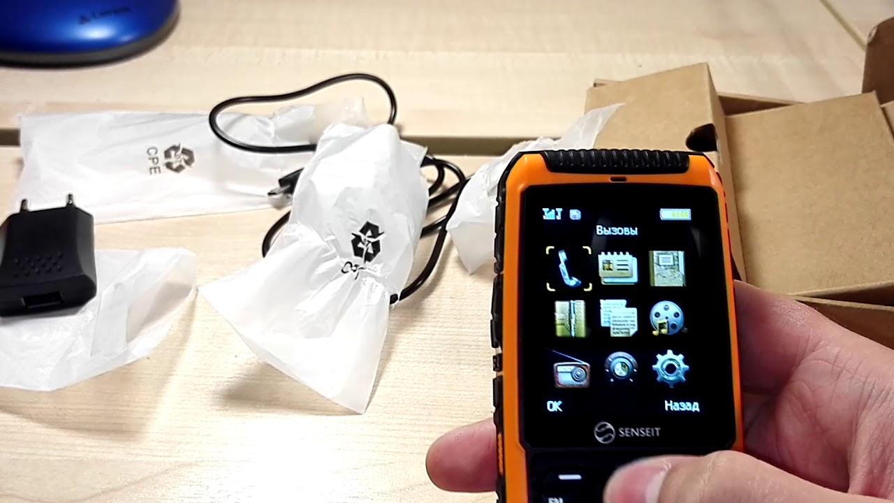 Обзор на защищённый телефон SENSEIT P101