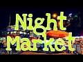 Santiago city night market strolling.!