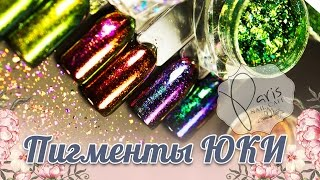 🎉Пигменты юки для новогоднего дизайна ногтей 🎉 Paris Nail