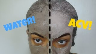 Bentonite Clay w/ Water vs. Bentonite Clay w/ ACV   DO NOT MIX THE CLAY WITH METAL--USE PLASTIC