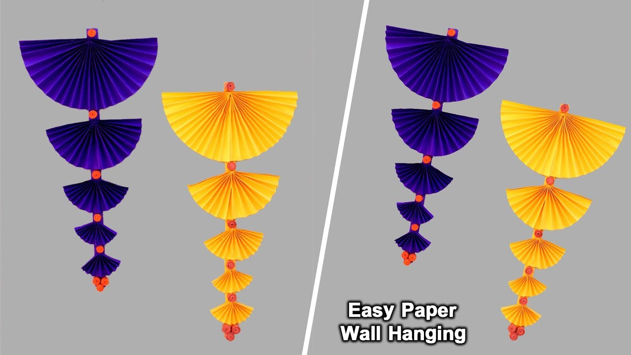 Easy Paper Wall Hanging And Door Decoration Craft Diy Home Decor Ideas Simple Paper Crafts Youtube