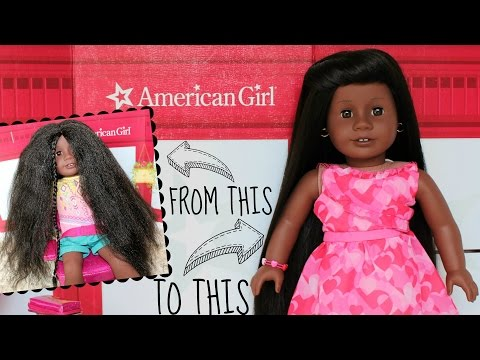 How To Straighten American Girl Doll Hair