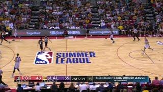 Quarter 2 One Box Video :Lakers Vs. Trail Blazers, 7/16/2017