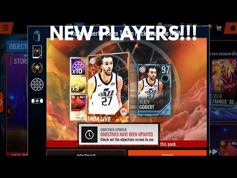 NEW 97 JERMAINE O'NEAL AND 97 CHAUNCEY BILLUPS!!!NEW 97 TOKEN MASTER RUDY GOBERT!!!NBA Live Mobile