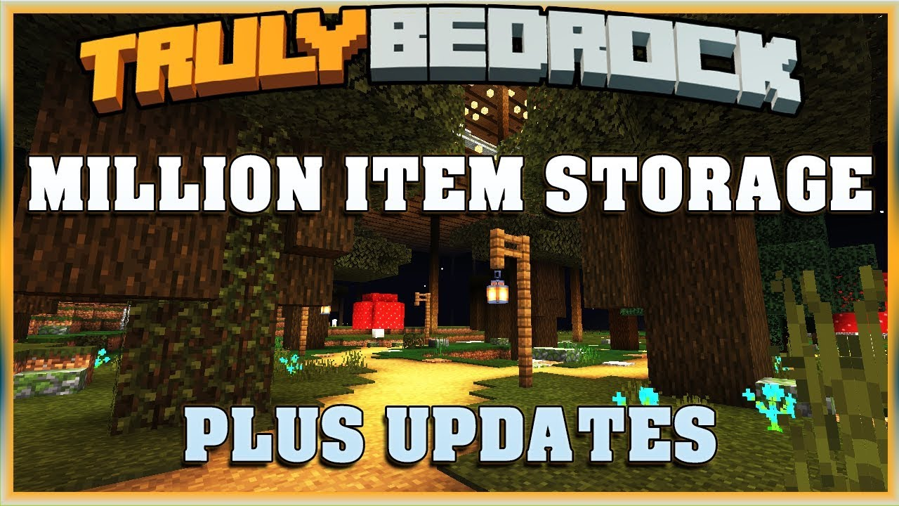 Truly Bedrock Season 1 EP30 Million Item Storage and Updates | Minecraft  Bedrock Edition SMP