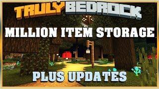 Truly Bedrock Season 1 EP30 Million Item Storage and Updates | Minecraft Bedrock Edition SMP
