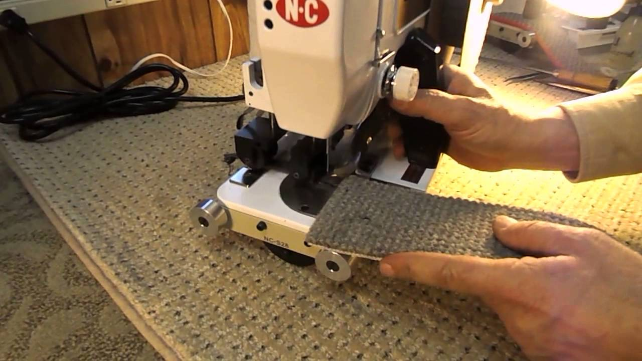 How To Apply Serging Tape With Nc Carpet Binder Youtube