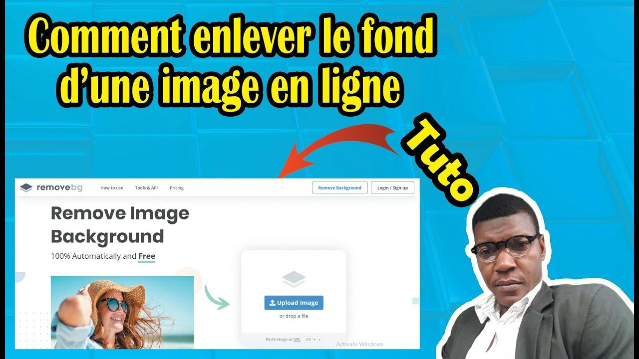 Comment enlever le fond d'une image en ligne    How to ...