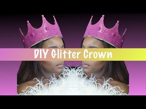 DIY Glitter Crown!