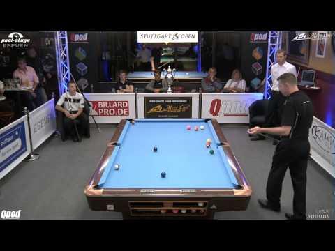 Stuttgart Open 2013, 12 Sebastian Staab vs Dirk Patz, 10-Ball, Pool-Billard, Cue Sports