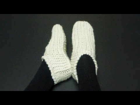 Knitted Seamless Basic Adult Slippers Youtube