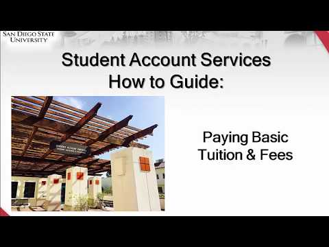 How to Make a Payment for Basic Tuition at SDSU