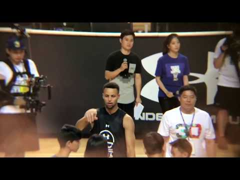 Entire Stephen Curry Under Armour event in Seoul, South Korea #SC30AsiaTour