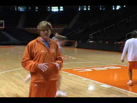 Shooting Drill with Pat Summitt that teaches spacing #6