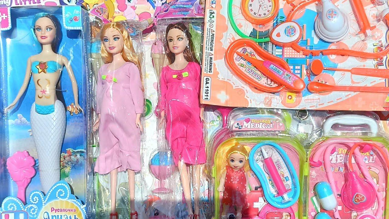 Mencari Mainan Anak Boneka Barbie Ibu Hamil Melahirkan Putri Duyung Mermaid Mainan Dokter Dokteran Youtube