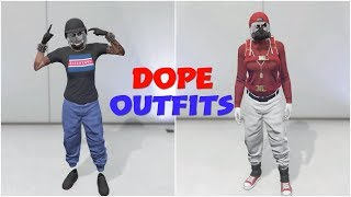 GTA 5 ONLINE CREATE 2 DOPE FEMALE MODDED TRYHARD/RNG OUTFITS USING CLOTHING GLITCHES 1.45!