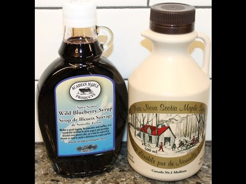 Canada: Acadian Maple Nova Scotia Wild Blueberry Syrup & Pure Nova Scotia Maple Syrup Review