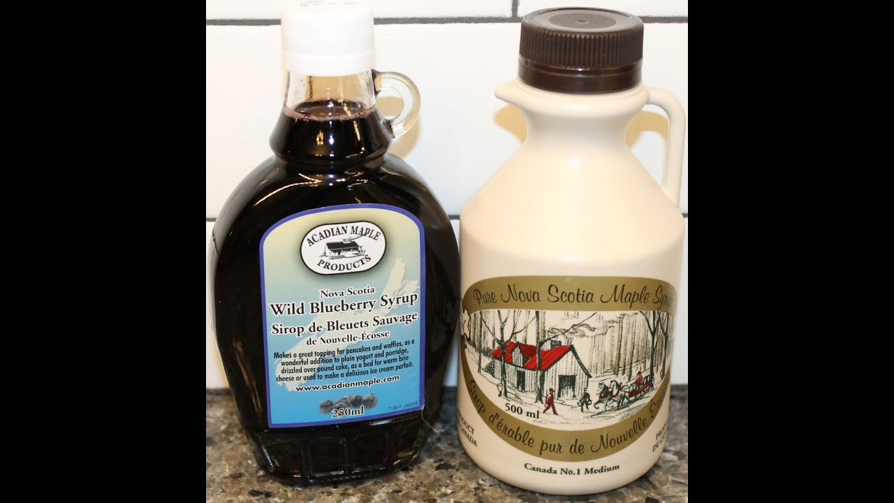 Maple Nova Scotia Wild Blueberry Syrup & Pure Nova Scotia Maple Syrup ...