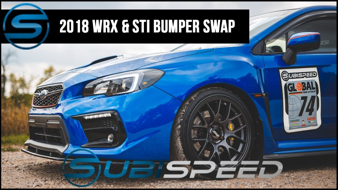 subispeed 2018 wrx sti front bumper youtube