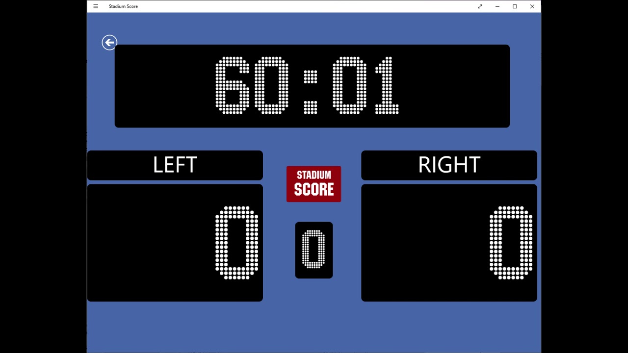 Football/soccer style count up timer Windows app