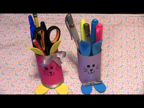 Lapiceros de conejos para los niños (easter) - YouTube