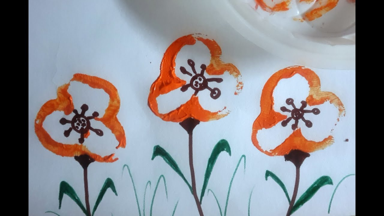 Vegetable Printing to paint Flowers   How to paint flowers by ... on meat printing, 4d printing, 3d printers printing, 3d home printing, pumpkin printing, full color printing, tampon printing,