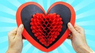 Открытка своими руками на 8 марта  Подарок для Мамы объемная открытка 3Д