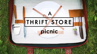 DIY PICNIC BASKET FROM THRIFT STORE ITEMS!