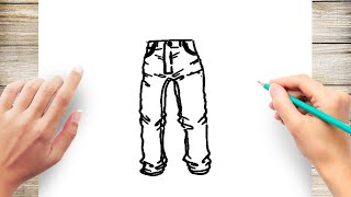 jeans drawing lesson