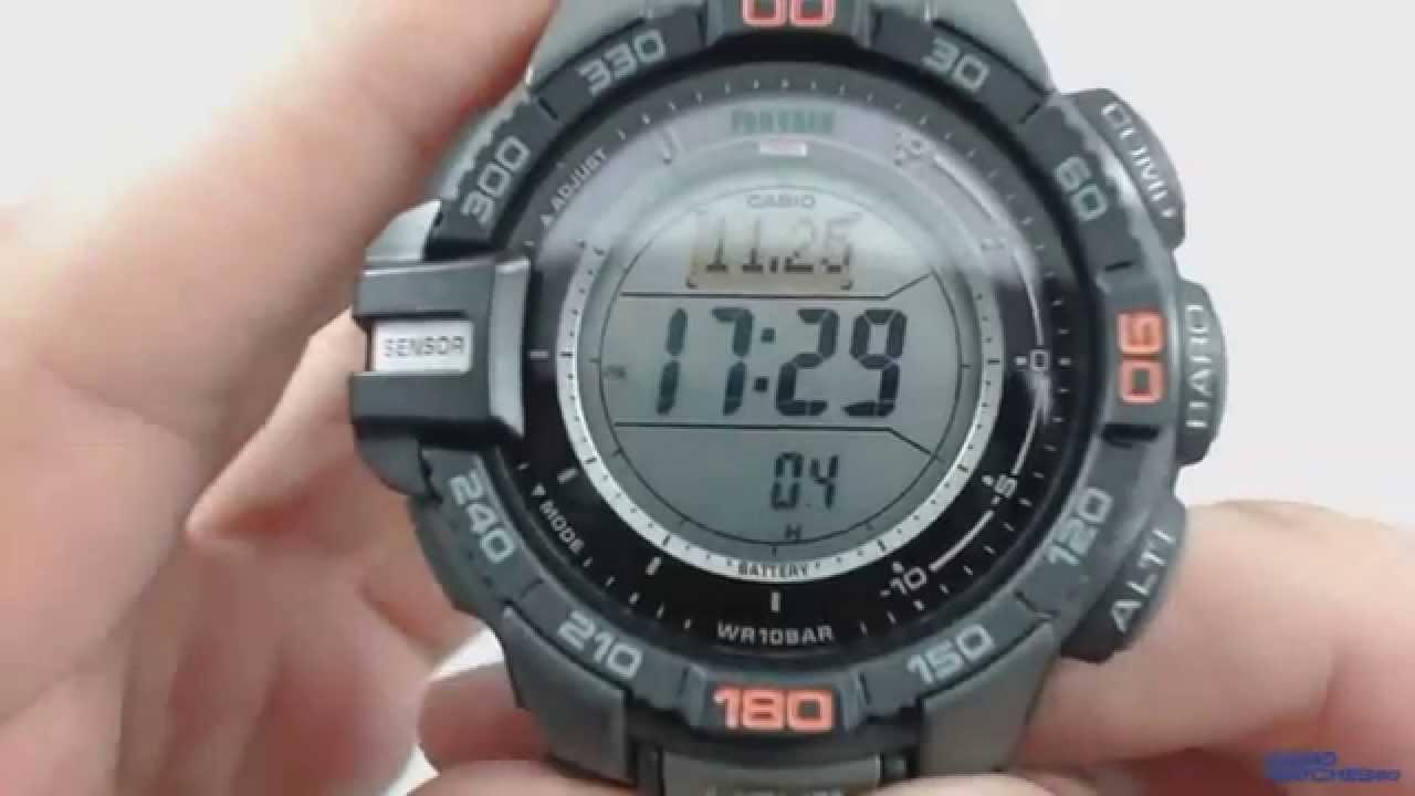 32ab56aca66b Casio Pro Trek PRG-270-1ER - YouTube