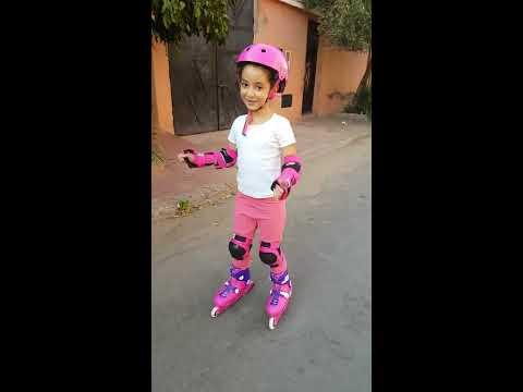 Amira VLOG Première fois les rollers