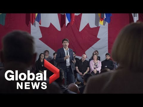 Justin Trudeau Holds Town Hall In Miramichi, N.B.