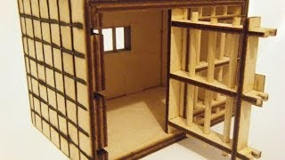 Jail Puzzle Box With Secret Sliders