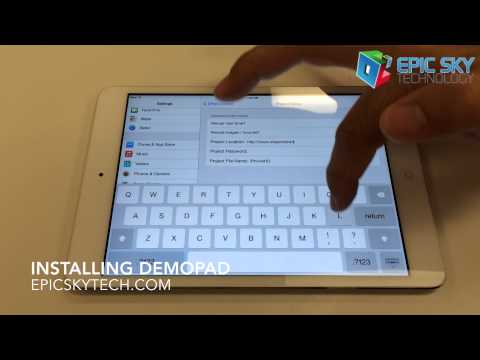 Installing Demopad on an iPad