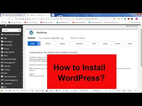 How To Install WordPress| WordPress Tutorial for Beginners thumbnail