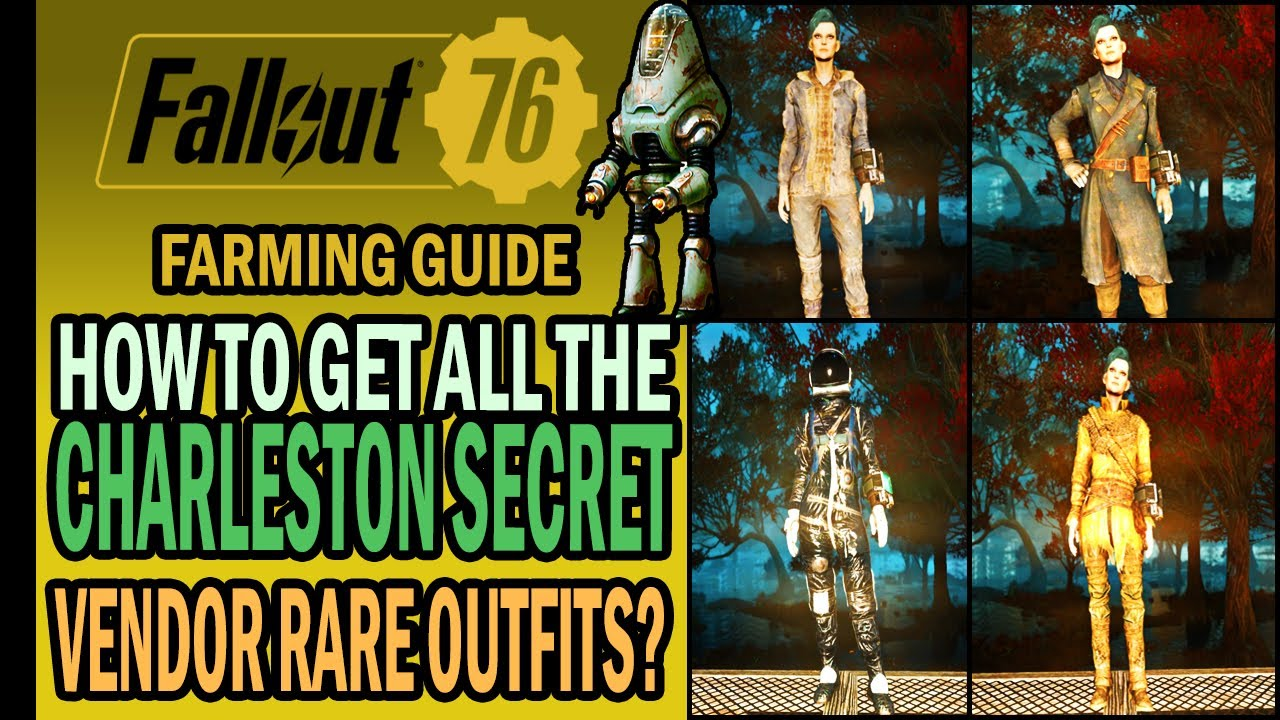 Fallout 6 - How to FARM the Charleston SECRET VENDOR? + 6 RARE Outfit  Display  Farming Guide