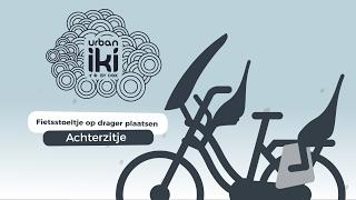 Urban Iki Rear seat: fietszitje op de drager plaatsen