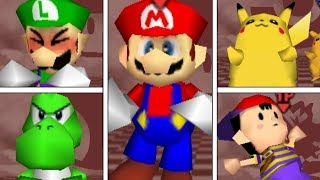 Super Smash Bros 64 - All Victory Pose Animations (HIGH QUALITY)