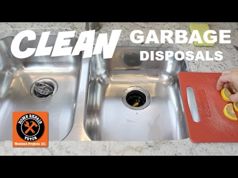 How to Clean a Garbage Disposal: 4 Quick Tips -- by Home Repair Tutor