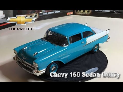 Chevy 150 Utility Sedan 1957 Highway 61 1/18- REUPADO