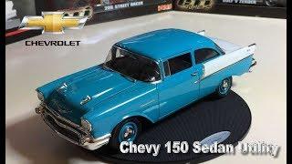 VÍDEO REUPADO POR PROBLEMAS NA REPRODUÇÃO. Miniatura Chevy 150 Utility Sedan 1957 1:18 da Highway 61. Agora é vez de uma miniatura da ...