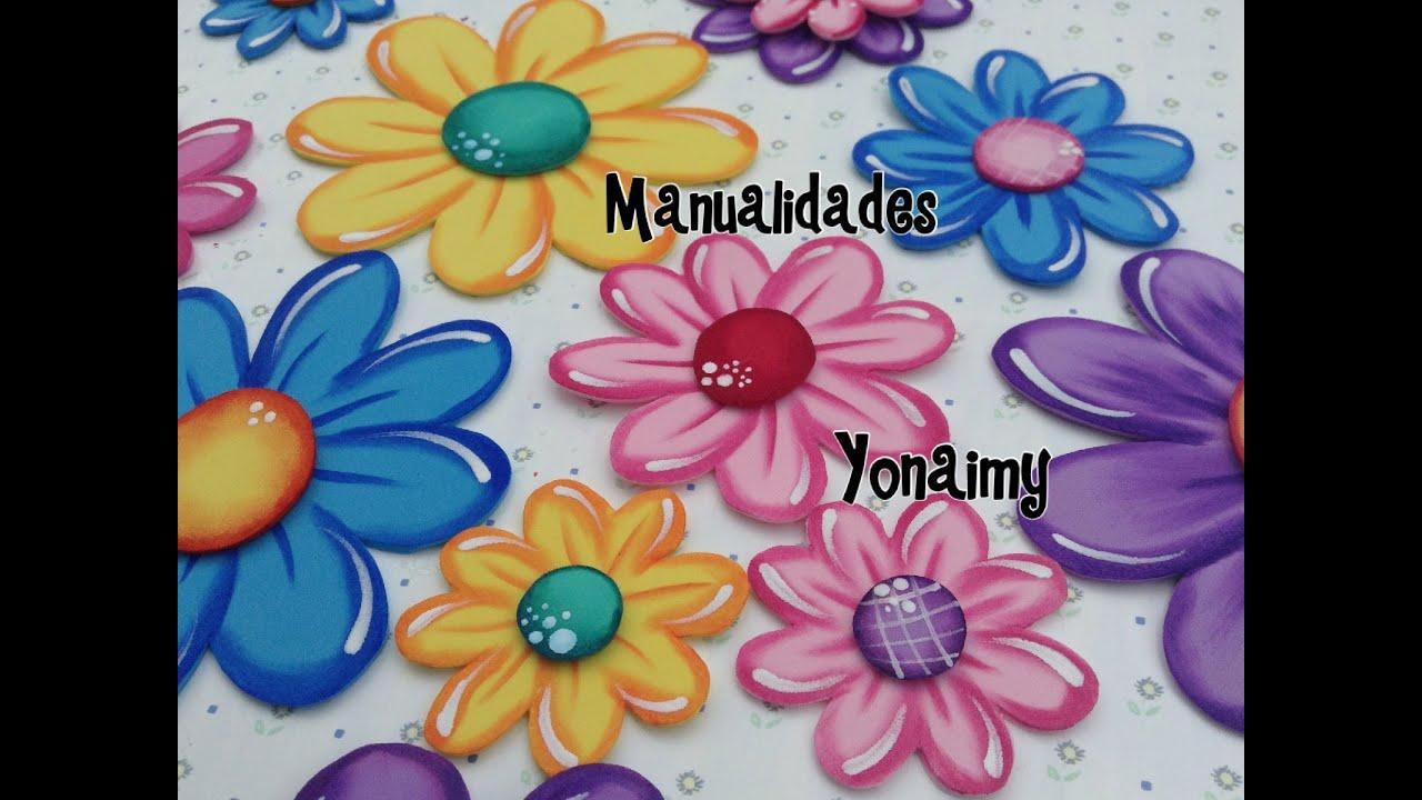 Flores de foamy o goma eva planas o con termoformado fino - Flore de goma eva ...