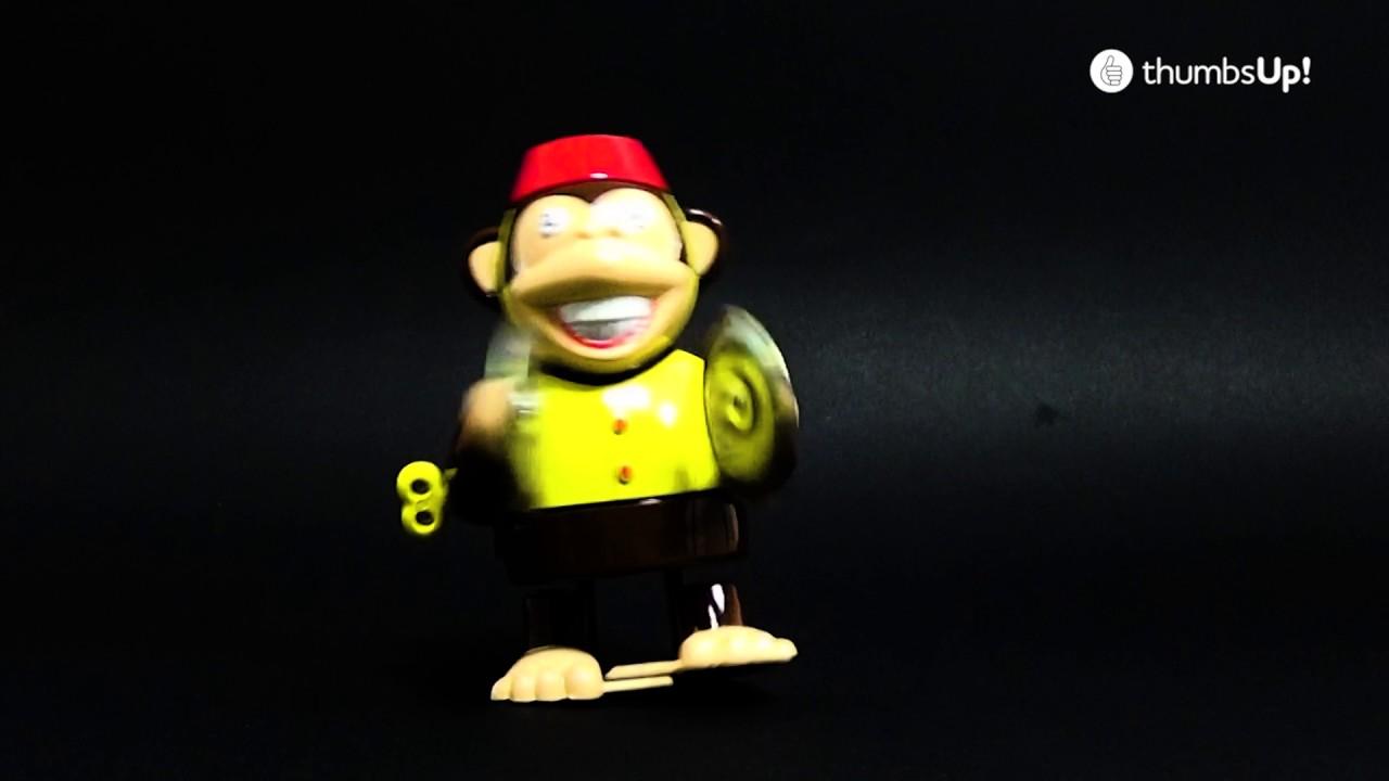 Thumbs Up Aufziehfigur Affe Mit Becken Youtube