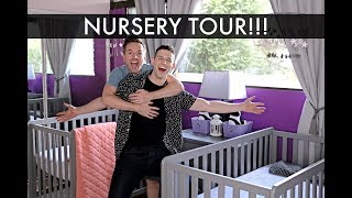 NURSERY TOUR! - Twin Girls - Gay Dads IVF Surrogacy Journey /// McHusbands