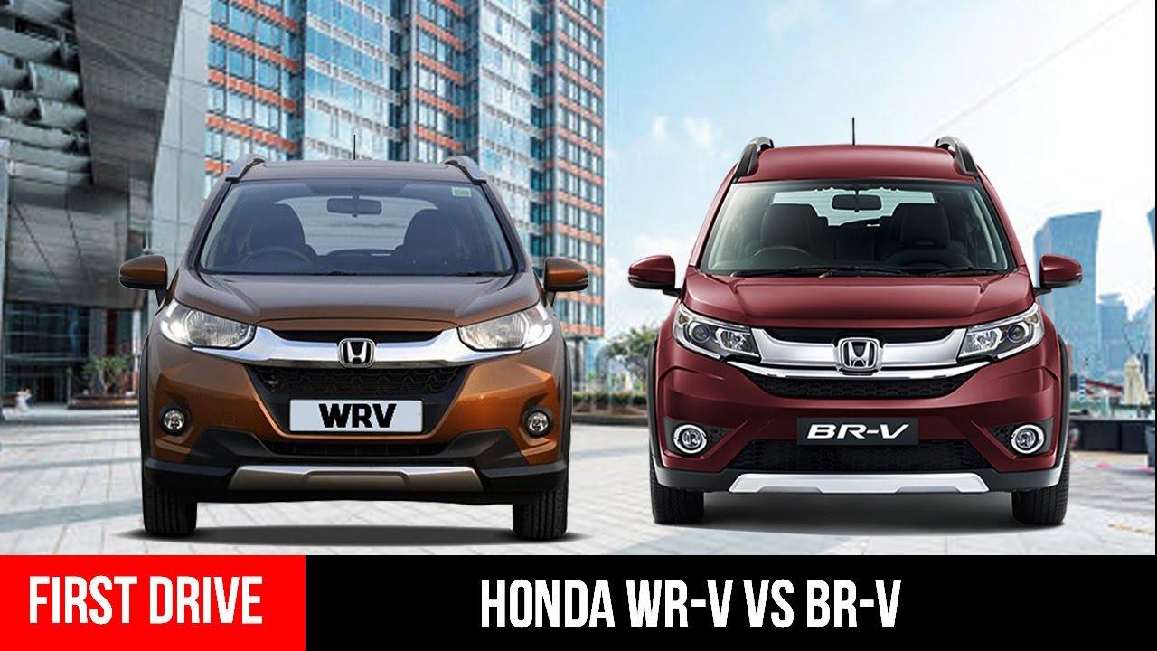 Honda Hrv V Crv >> Honda WRV vs Honda BRV Crossover Comparison- First Drive - YouTube