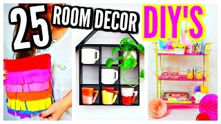 25 DIY Room Decor Ideas & Projects! For Teenagers, Girls, Kids