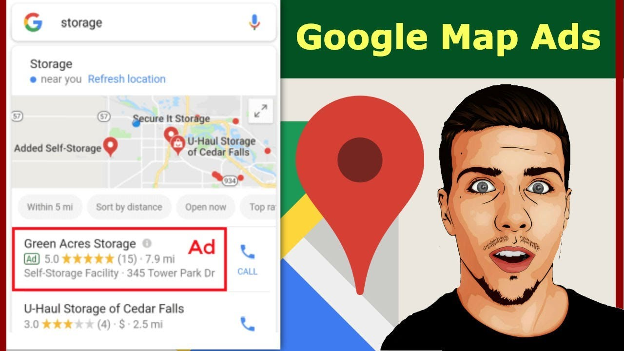 How to Get Local Search Ads to Show Up in Google Maps: AdWords Location Google Map Ad on bg google maps, sc google maps, petra google maps, de google maps, kansas google maps, uk google maps, andorra google maps, ga google maps, la google maps,