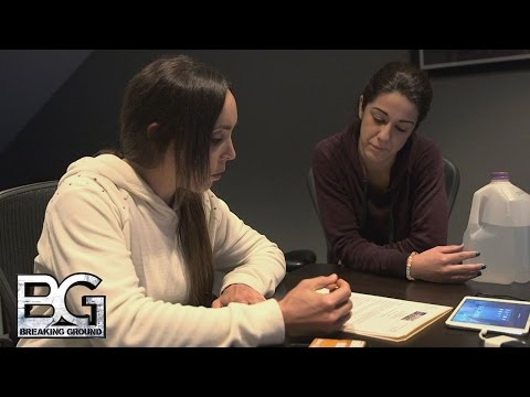 Bayley Sits Down With Coach Amato For Her Performance Review: WWE Breaking Ground, Dec. 14, 2015